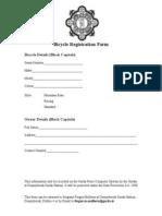 Garda Bicycle Registration Form
