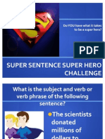 Basic Parts of a Sentence Review Game
