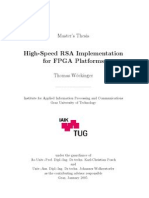 High Speed RSA Implementations