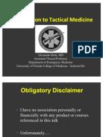 Intro to Tactical Medicine