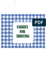 Fabrics for Shirting Ppt