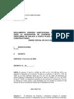 Subsidiol Extra y préstamo. Chile. 2009