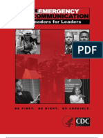 Crisis by Leaders for Leaders