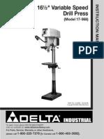 Delta 17-968 Drill Press