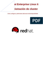 Red Hat Enterprise Linux 6 Cluster Administration Es ES