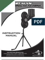 """Mattingly Sports """"Hitman"""" Pitching Machine Manual"""