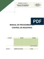 Pr-015 Control de Registros