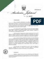 Directiva Cuadro de Horas 2012