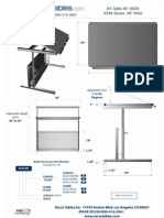 Art Table (AT Series) Technical Drawing