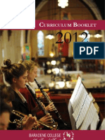 Curriculum Booklet 2012