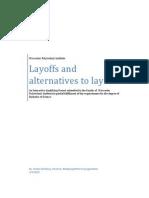 Layoffs 4.3 Dissertation