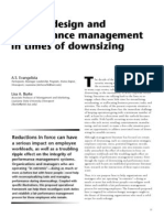 Work Redesign and Performance Management in Times Od Downsizing