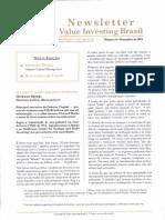 Newsletter VIB - O Lado Humano Dos Investimentos