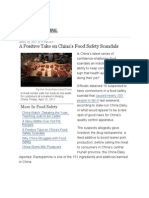 A Positive Take on China's Food Safety Scandals - China Real Time Report