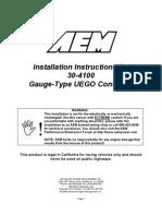 UEGO Wide Band Gauge Type 30-4100