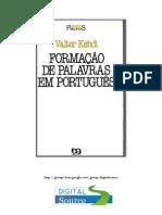 Valter Kehdi - Formação de Palavras em Portugês (pdf) (rev)