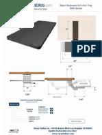 Basic Keyboard Arm (BKA Series) Technical Drawing