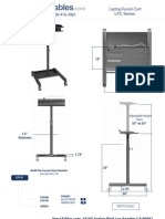 Laptop Fusion Cart (LFC Series) Technical Drawing