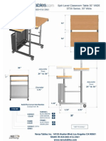 Adjustable Split Level Computer Table 30 (ST30 Series) Technical Drawing