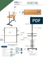 Versa Center 72 (VC72 Series) Technical Drawing