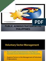 Voluntary Sector Mgt