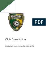 Middle Park FC Constitution