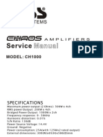 BOSS CH1000 Manual de Servicio