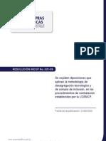 Resolucion Incop No 031 09-Desagregacicón-Tecnológica