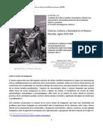 Ciencia Cultura Sociedad_Programa