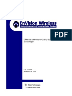 Sample GPRS Data Network Quality Survey