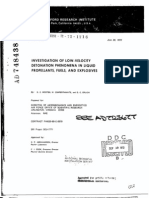 D.C. Wooten, M. Cowperthwaite and D.C. Erlich- Investigation of Low-Velocity Detonation Phenomena in Liquid Propellants, Fuels, and Explosives
