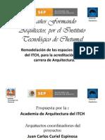 presupuesto de remodelacion (25 años Formando arquitectos )