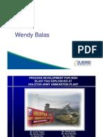 Wendy Balas- Process Development for High Blast PAX Explosives at Holston Army Ammunition Plant