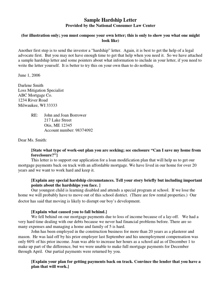Example Letter Of Explanation For Foreclosure from imgv2-2-f.scribdassets.com