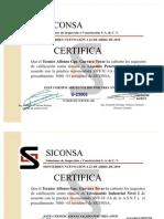 Certificado Sic, Borr.