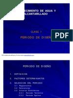 CLASE 1 PERIODO DE DISEÑO