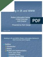Ranking in IR & Www Paper1