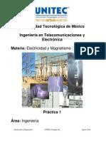 Práctica 1 Electricidad y Magnetismo