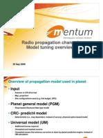 Radio Channel Model Tuning Mentum