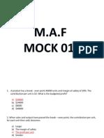MAF MOCK 01 Q& A