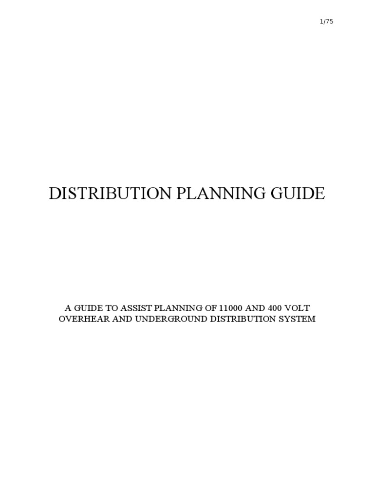 Distribution planning guidefinal electric power distribution distribution planning guidefinal electric power distribution electrical substation ccuart Images