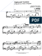 Rhapsody on a Theme of Paganini (#18)