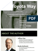 The Toyota Way Mrinal Anirban