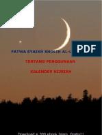 Fatwa Ibn Utsaimin Tentang Penggunaan Kalender Hijriah