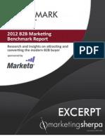 2012 B2B Marketing Benchamrk Report - By Marketing Sherpa
