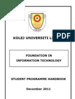 2011 Handbook - Linton Foundation in IT (2011)