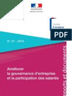 Rapport Améliorer la gouvernance d'entreprise et la participation des salariés