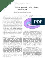 Wi-fi WiMax ZeegBee