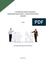 Igualdade de Género nos Cargos de Direcção da Administração Pública Central – 14 Anos de Políticas para a Igualdade
