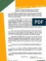 Report des élections au Conseils d'Administration des CROUS, la Fé2A dénonce le sacrifice de la représentation étudiante.